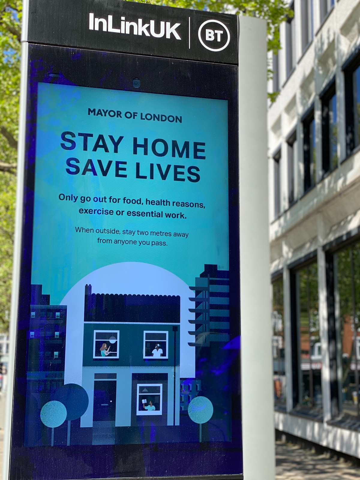 """""""Stay Home, Save Lives"""" sign"""
