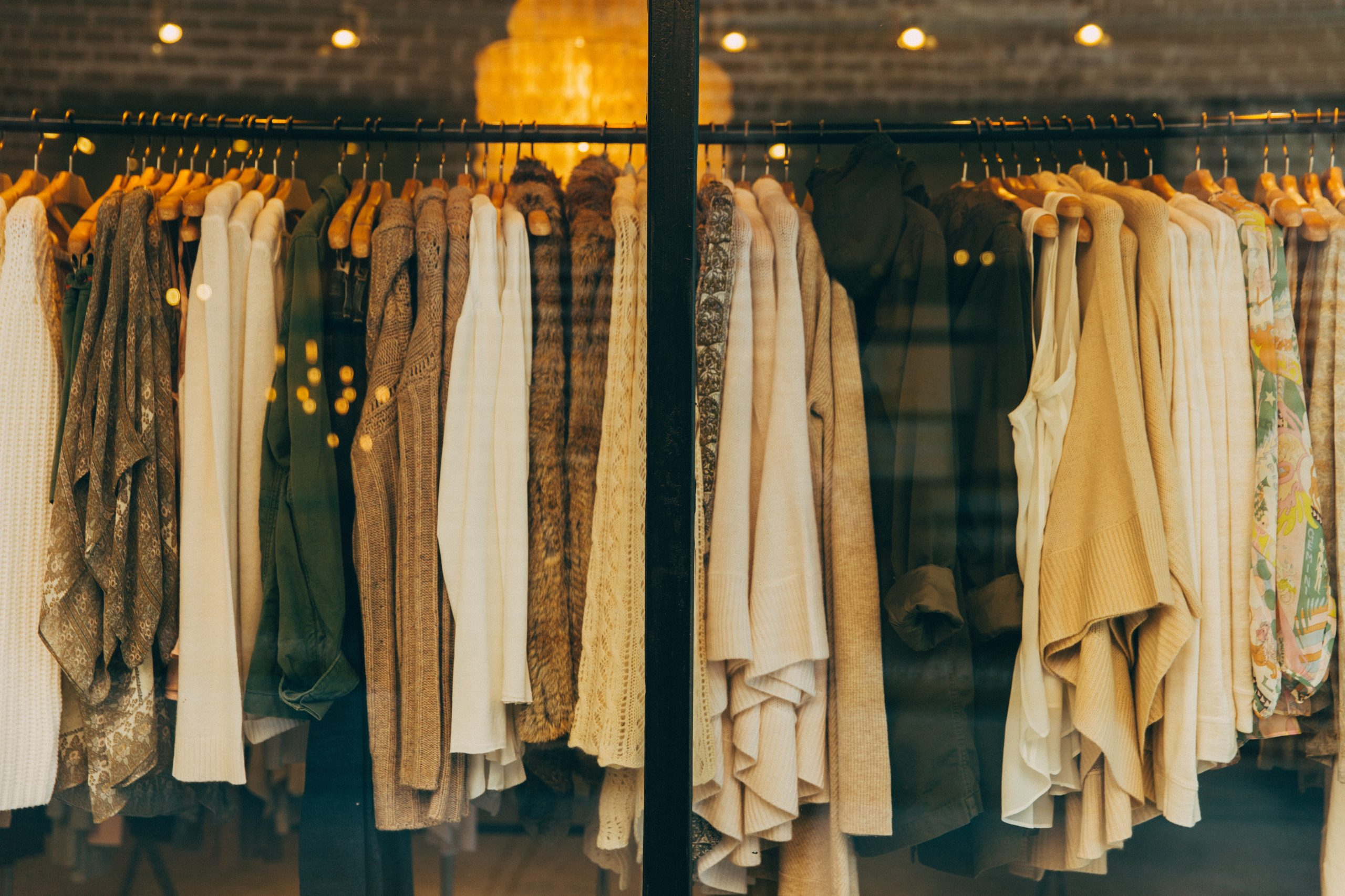 Retail shop with clothes